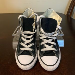 Converse all stars black high top sneakers shoes